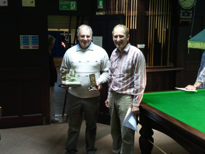 Open Singles Winner - Barry Brown (Penparcau B)